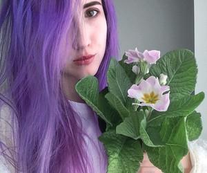 purple hair image