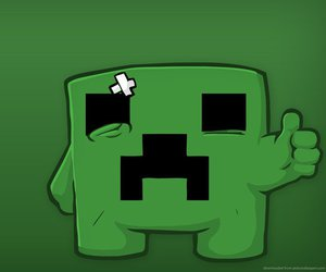 minecraft, creeper, and green image