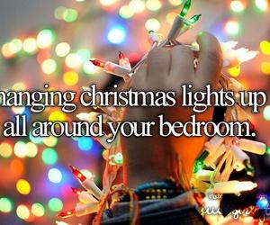 christmas, lights, and bedroom image