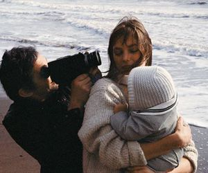 family, beach, and couple image