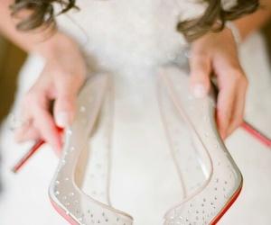 wedding, beautiful, and shoes image