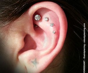 ear, girl, and Piercings image