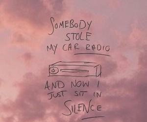 Lyrics, song, and car radio image
