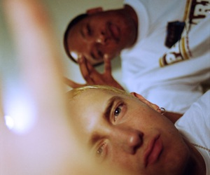 Dr Dre, eminem, and old school image