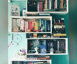 beautiful, bedroom, and books image