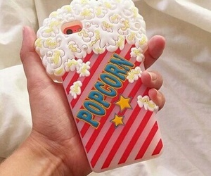 case, popcorn, and iphone image