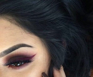 eyeshadow, fashion, and girl image