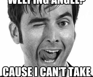 doctor who, weeping angel, and david tennant image