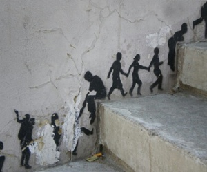art, stairs, and street art image