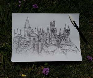 drawing, harry potter, and hermione image