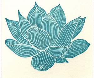 flower, lotus, and art image
