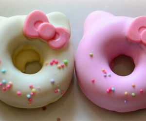 donuts, hello kitty, and pink image