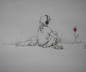 draw, flor, and flower image