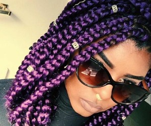 natural, purple, and style image