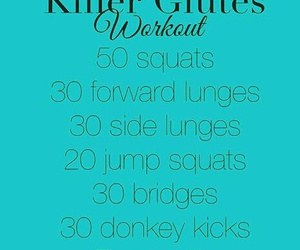 exercise, work out, and butt work out image