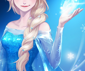 anime, girl, and frozen image