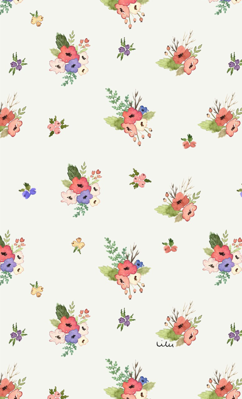 Background Colorful Cute Floral Flower Fun Girly Lovely