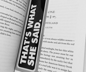 black and white, book, and bookmark image
