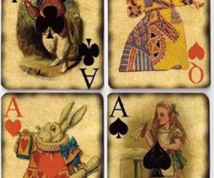 alice, wonderland, and white rabbit image