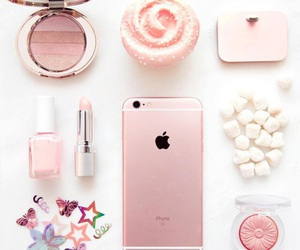 iphone, pink, and makeup image