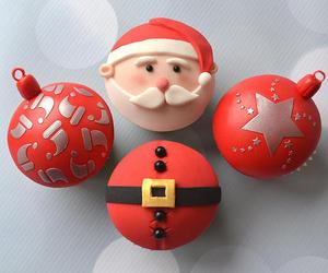 christmas, cupcakes, and xmas image