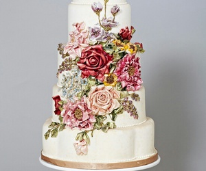 cake, pretty, and yum image