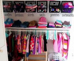 baby and closet organization image