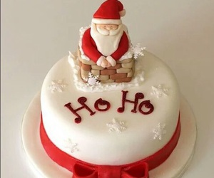 christmas, cake, and santa image