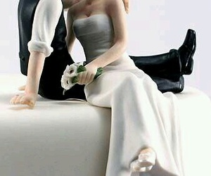 wedding and cute cake topper image