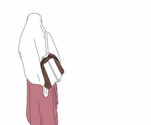 colour, doodle, and hijab image