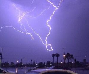 purple, grunge, and lightning image
