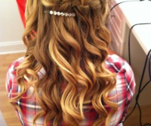 barrette, beautiful, and blond image