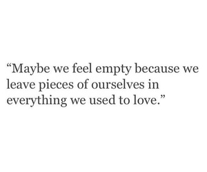 because, empty, and leave image