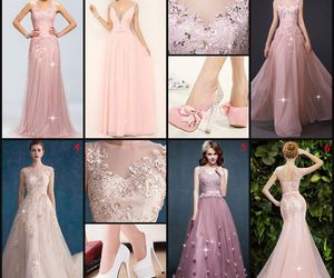 beauty, evening dress, and pink image