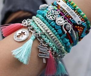 bracelet, bracelets, and hand made image