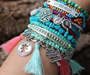 bracelet, bracelets, and ibiza image