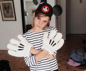 emma watson, disney, and mickey mouse image