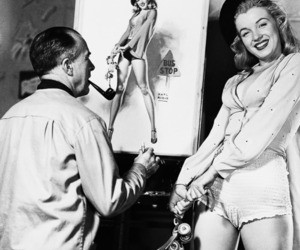 Marilyn Monroe and Pin Up image