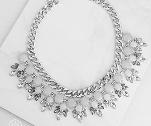 girl, diamonds, and necklace image