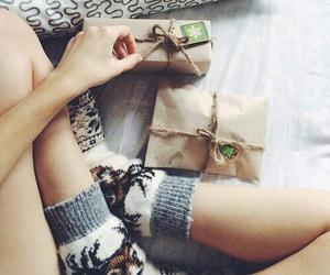 christmas, girl, and present image