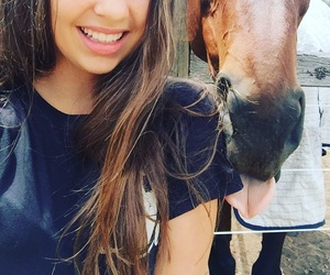 brunette, horse, and ponies image