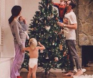 family, christmas, and baby image