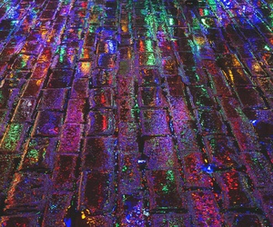 lights, grunge, and colors image