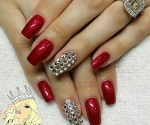 bling, glitter, and red image