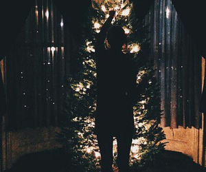 girl, tree, and newyear image