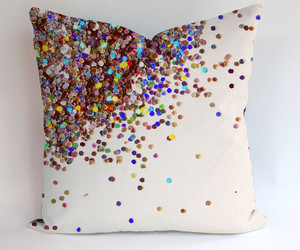 pillow, pillow case, and rainbow image