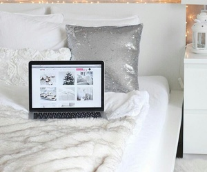 bed, decor, and winter image