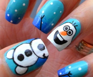 olaf, blue, and frozen image