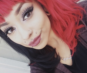 alternative, red and black hair, and me image