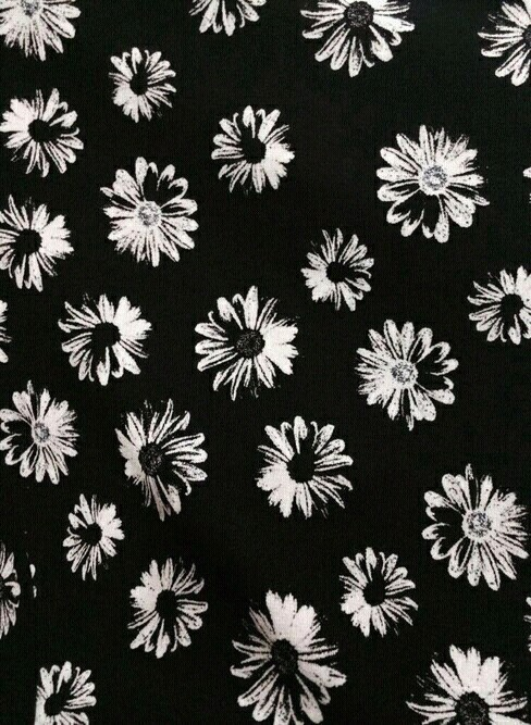 Black And White Cute Daisy Kaiwaii Pattern Wallpaper Adorb